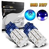 97 camaro led headlights - Partsam Blue 3156 3157 60-SMD LED Bulbs DRL Daytime Running Light Bulb 420LM 52mm size LED Bulbs lights 3757 4114 4157