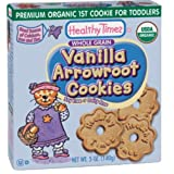 Healthy Times Organic 1st Cookie, Vanilla Arrowroot Cookies, 5-Ounce Boxes (Pack of 12)