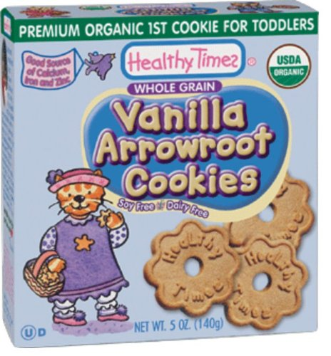 Healthy Times Organic 1st Cookies, Vanilla Arrowroot, 5 Ounce (Pack of 12)