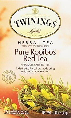 Twinings African Rooibos Red Tea, 20-Count Tea Bags (Pack of 6) ( Value Bulk Multi-pack)