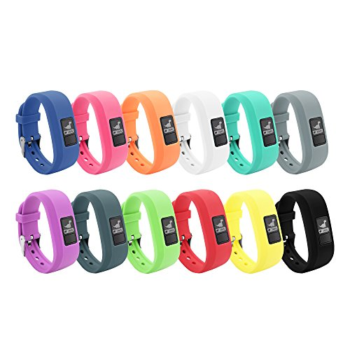 12 Colors Garmin Vivofit JR Bands With Secure Watch Clasp , BeneStellar Silicone Replacement Bands for Garmin Vivofit JR (for Kids)