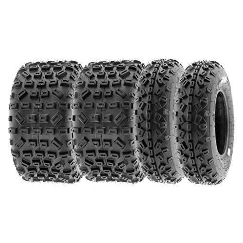 SunF All Terrain Trail Replacement ATV UTV 6 Ply Tires 20x6-10 & 18x10-8 Tubeless A035, [Set of 4]