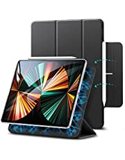 ESR Rebound Magnetic Case Compatible with iPad Pro 12.9 5G 2021/2020, Smart Case with Convenient Magnetic Attachment, Auto Sleep and Wake, Pencil 2 Support, and Trifold Stand –Black