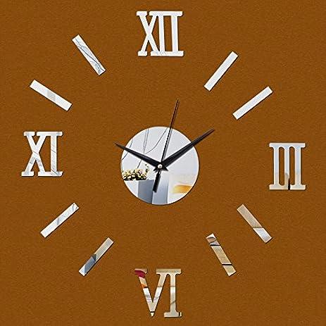 EverTrust(TM) Real 3d Acrylic Mirror Wall Clock Watch Clocks Modern Design Vintage Large