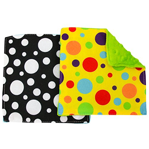 """S&T 598701 Baby Crinkle Square Sensory Toys - 6"""" x 6"""", Assorted, 2PK"""
