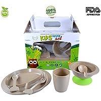 Royale Kitchenware 7-Pcs. Toddler Kids infant Organic Dinnerware Set