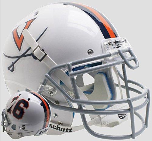 (Schutt NCAA Virginia Cavaliers On-Field Authentic XP Football Helmet, White #16 Alt. 6)