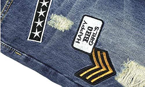 Gatto Cowboy Fori Denim Blau Braccia Uomo Jeans Ragazzo Del Ssig Originali Nostalgia Classici Di Cher Tendenza Artiglio Diritti Sottili Sfilacciati Nlichkeit Dei pvqrqxEAw