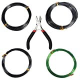 MUTOCAR Tree Training Wires Kit for Bonsai Tree - Size 1.0 mm/1.5 mm/2.0 mm (Each Size 32 ft/10 m) with Bonsai Wire Cutter, Anti-Corrosion and Rust Resistant,Set of 5