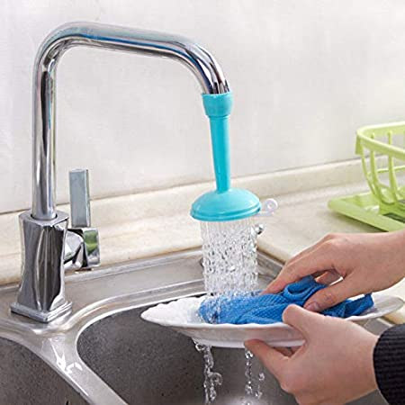 Kitchen Point Flexible Faucet Nozzle Water Filter Adapter Water Purifier Saving Tap Aerator Diffuser Kitchen Connector Accessories - Random Color
