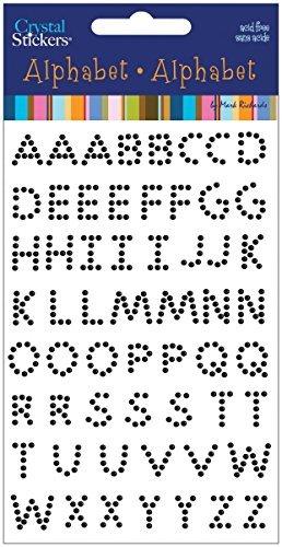 Nceonshop(TM) Crystal Stickers Alphabet 58/Pkg Black 200CA-2005