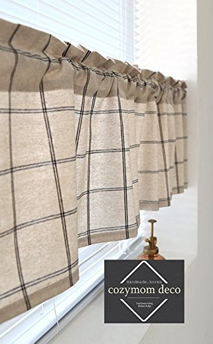 Amazon Com Cozymom Handmade Natural Cotton Cafe Curtain Kitchen