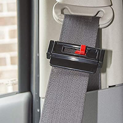 Seat Belt Tension Adjuster (Universal 4-pk) - Relieves Irritation, Prevents Sense of Choking While Driving or Riding in Cars - Slide, Lock and Go: Automotive