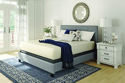 Sierra Sleep by Ashley Chime by Ashley - 12 Inch Chime Express Memory Foam Mattress - Bed in a Box - Queen - White
