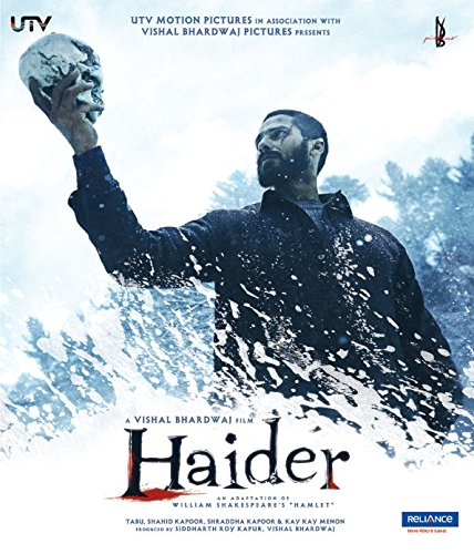 - Haider - 2014 Hindi Movie Blu-Ray Special Edition / Region Free / English Subtitles / Shahid Kapoor, Shradha Kapoor