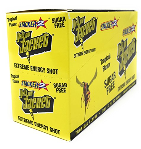 Yellow Jacket Stacker 2 Extreme Energy Shots Tropical Flavor Sugar Free 10pk 1.7oz. -