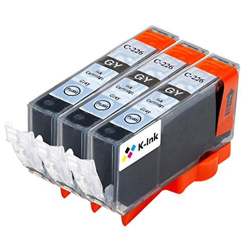 K-Ink CLI 226 Gray Compatible Replacement Ink Cartridges (3 Gray)