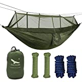 OUTFANDIA Camping Hammock with Mosquito Net,Double Persons Iqammocking Bed Tent Portable Cot for Relaxation,Traveling,Outside Leisure