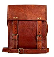 Genuine Leather iPad Messenger Bag for Men - Vintage Crossbody Satchel Bags by Rustic Town (11 inches)
