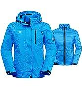 Wantdo Women's Warm Winter Jacket Detachable Liner 3-in-1 Jacket Waterproof Snowboarding Coats Ho...