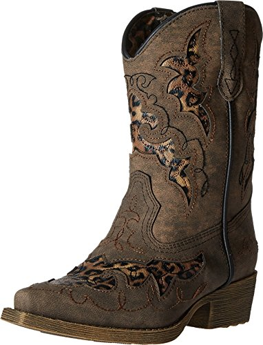 Laredo Girls' Sabre Cowgirl Boot Pointed Toe Brown 8.5 D(...