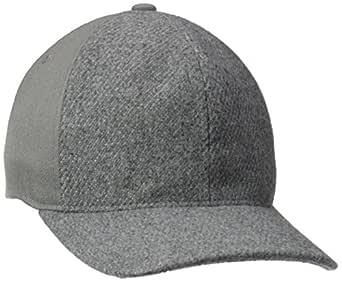 Kangol Men's Textured Wool Baseball Cap, Flannel, S/M
