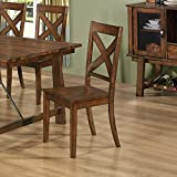 brownville 7 dining table set in rich
