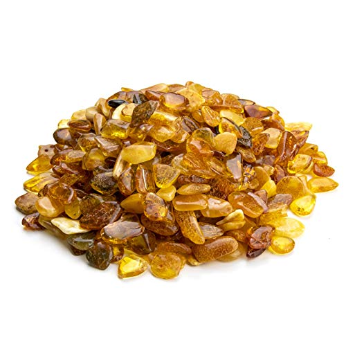Baltic Amber Stones by Amber Culture | Mix Color, Natural, Polished Amber for Crafting, Jewelry and Paint Relief (No Holes) (60 Grams / 2.1 ()