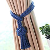 AOBRITON 1 Pc Home Decor Curtain Holder Drape Curtain Tieback Tassel Tie Back Living Room Curtain Rope Clips Holder
