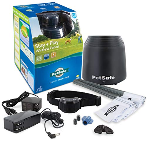PetSafe Stay & Play Dog and Cat Wireless Fence - Above Ground Electric Pet (Dog Collar Cover)