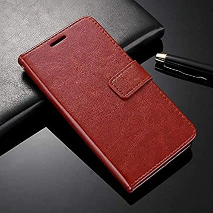 best sneakers 96538 f0fc8 Febelo Xiaomi Poco F1 Flip Cover Case, Premium Quality Inner TPU, Leather  Magnetic Lock Flip Cover Case for Xiaomi Poco F1 - Vintage Brown