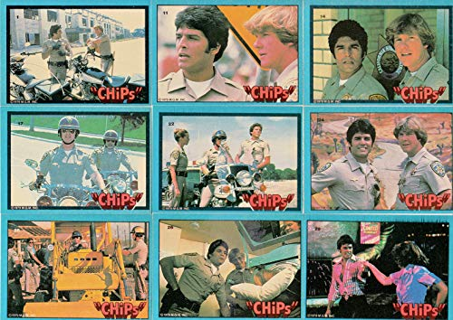 CHIPS TELEVISION SHOW 1979 DONRUSS COMPLETE BASE CARD + STICKER SET OF 60 + 6