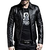 Laverapelle Men's Genuine Lambskin Leather Jacket (Black, 2XL, Polyester Lining) - 1501200