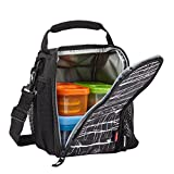 : Rubbermaid LunchBlox Lunch Bag, Small, Black Etch 1813500