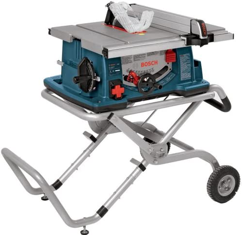 Bosch 10-Inch Worksite Table Saw 4100-09 with Gravity-Rise Wheeled Stand Portable Table Saw Discontinued by Manufacturer