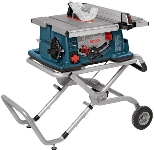 Bosch 10-Inch Worksite Table Saw 4100-09 with Gravity-Rise Wheeled Stand; Portable...
