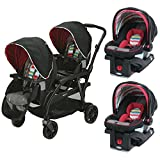 Graco Travel System Modes Duo Stroller & 2 SnugRide Click Connect Car Seats