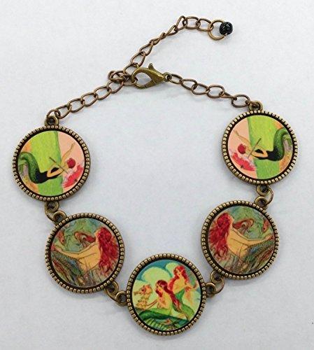 Mermaid Bracelet, Vintage Mermaids, Great For the Mermaid lover, One Size Fits All, Handmade & Designed in America, Ships Free