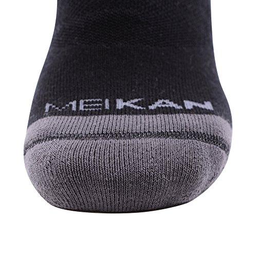 Outdoor Hiking Socks, MEIKAN Hiker Boot Sock Full Cushion Winter Activity Socks Keep Feet Dry & Cool for Men Youth 4 Pairs, Black by MEIKAN (Image #4)
