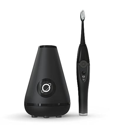 Aura Clean 9941001148 Aura Clean Cepillo de dientes ultrasónico y estación de limpieza, color negro