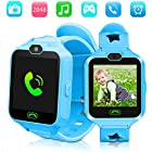 Kid Smartwatches Kids Phone Watch Girls Boys Birthday Gift 3-15 Years Old, Touch Screen Camera Many Clock Interface, Alarm Function Kids Toys Gift.(Blue)