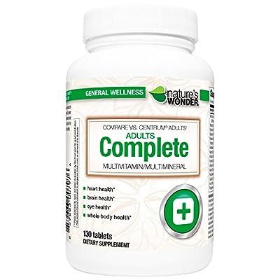 Nature's Wonder Adult Multivitamin, 130 Count, Compare vs. Centrum ® Adults
