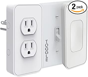 Switichmate Smart Power and Toggle Switch Kit, Dual Outlet/Light  Switch/Timer/Automation, DIY, USB Charger, Nightlight, No Tools, No Wiring,  Snap on/Plug In, Motion Detector, Smart Home, App Control - - Amazon.comAmazon.com