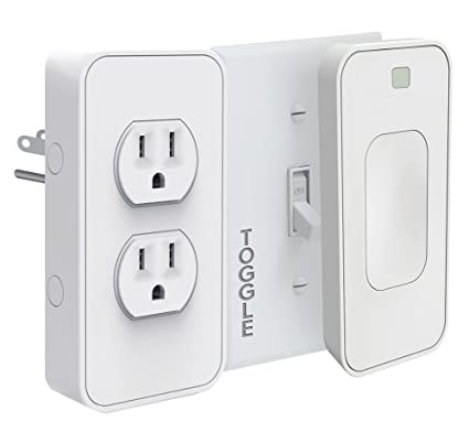 Switchmate Slim Snap-on Smart Light Switch and Power Outlet-Toggle,  SKLPPVT3, 2 Piece