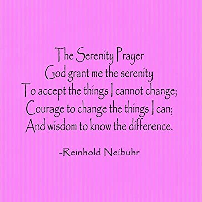 Amazon the serenity prayer god grant me the ser funny funny spiritual metal sign wall decor pink background loading images voltagebd Choice Image