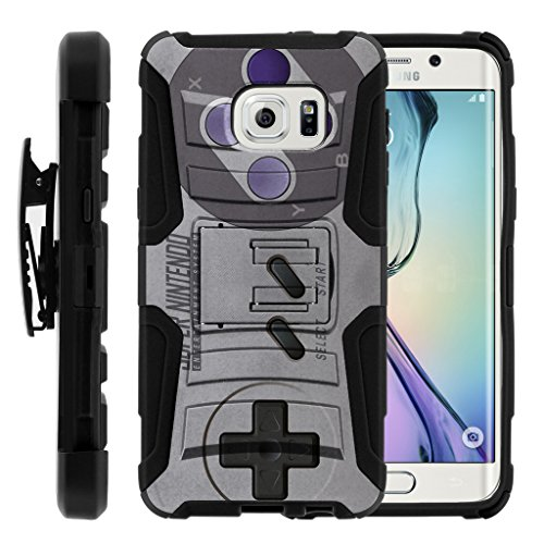 Compatible for Samsung Galaxy S6 Edge+ Case | G928 [Hyper Shock] Hybrid Dual Layer Armor Holster Belt Clip Case Kickstand - Classic Game Controller