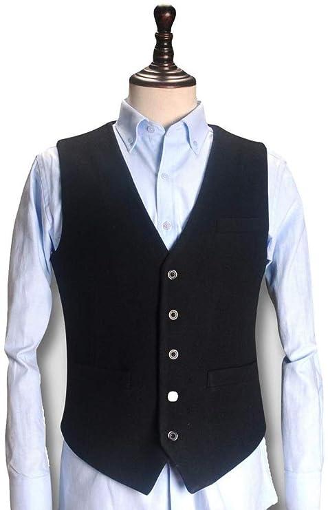 GRBD Vest for Men Hombres de Lana Traje Chaleco Bolsillo ...