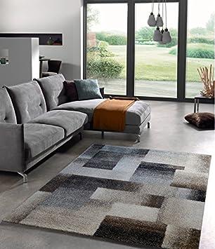 Teppich Eleganter Wohnzimmer Teppich Modern Meliert Karo Abstrakt ...