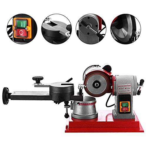 Mophorn Circular Saw Blade Sharpener Rotary Angle Mill Grinding Sharpening Machine 125MM 370W Saw Blade Sharpener Machine for Carbide Tipped Saw Blade (Circular Saw Blade sharpener) (Saw Sharpening Tools)