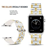 Apple Watch Band 42mm Golden pineapple, DOO UC Stainless Steel Watch Band Replacement Strap for Both Apple Watch Series 1 and Series 2 Series 3 - 42mm
